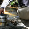 Camp cooking on a Hobo Stove