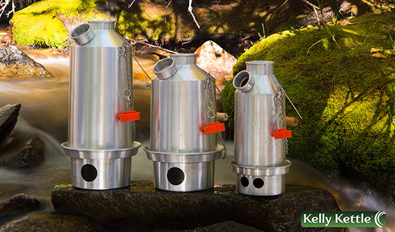 Kelly Kettle comes in three sizes for all outdoor adventures